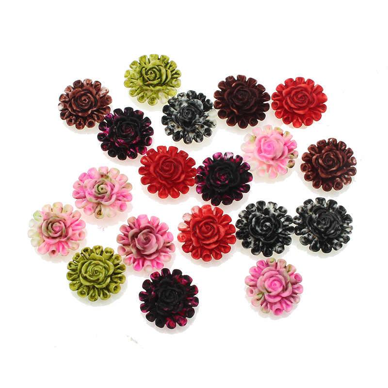 100 Pcs פרחי שרף עבור נייל אמנות Rhinestones קישוטי מלאכות קישוטי קבושון Flatback רעיונות אביזרים