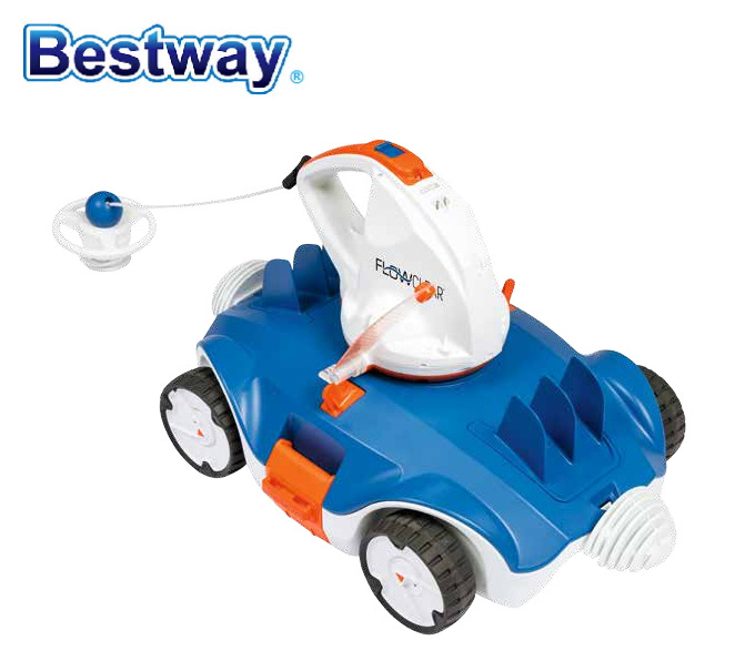58482 Bestway Aquatronix Auto Pool Clean Robot For All Flat Bottom Above-ground In-ground Pool Auto Cleaner No-Cord Full Motion