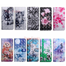 Flip Case for Nokia 3 Global Dual TA-1032 TA-1020 Wallet Stand Card Slot 3D Painted Phone Leather Cover for Nokia3 TA 1020 1032
