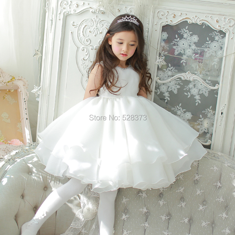 YNQNFS FG46 Real Picture Puffy Princess Baby Kids Child Pageant Birthday Party Bridal Organza Ruffles   Flower     Girl     Dresses   with B