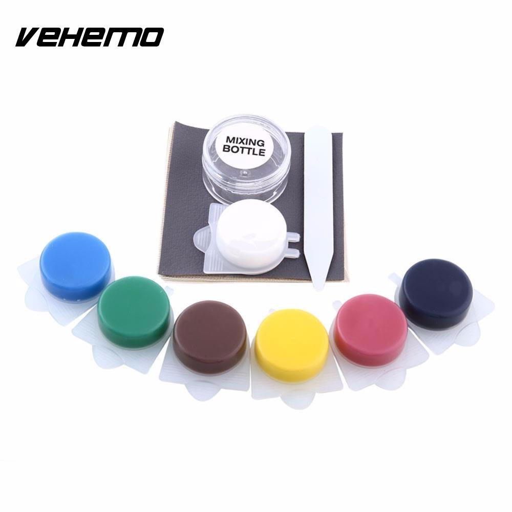 Vehemo Leather Vinyl Repair Kit Fix Rips Holes For Car Boat Seat Home Furniture Tools