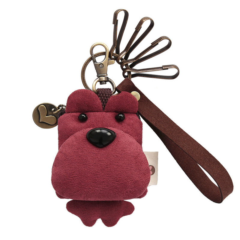 Cartoon Cute Bear Girls Keychain Wallet Kids Clutch Coin Purse Small Change Pouch 239