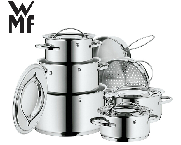 buy free shipping wmf 12pcs cooking pots inox 18 10 pan and pot cookware set. Black Bedroom Furniture Sets. Home Design Ideas