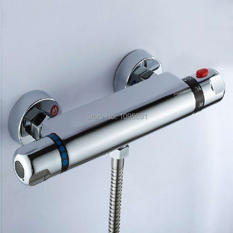 Brass Thermostatic Mixing Valve Shower Faucet Thermostatic: G1/2 Brass Thermostatic Mixing Valve, Solar Water Heater