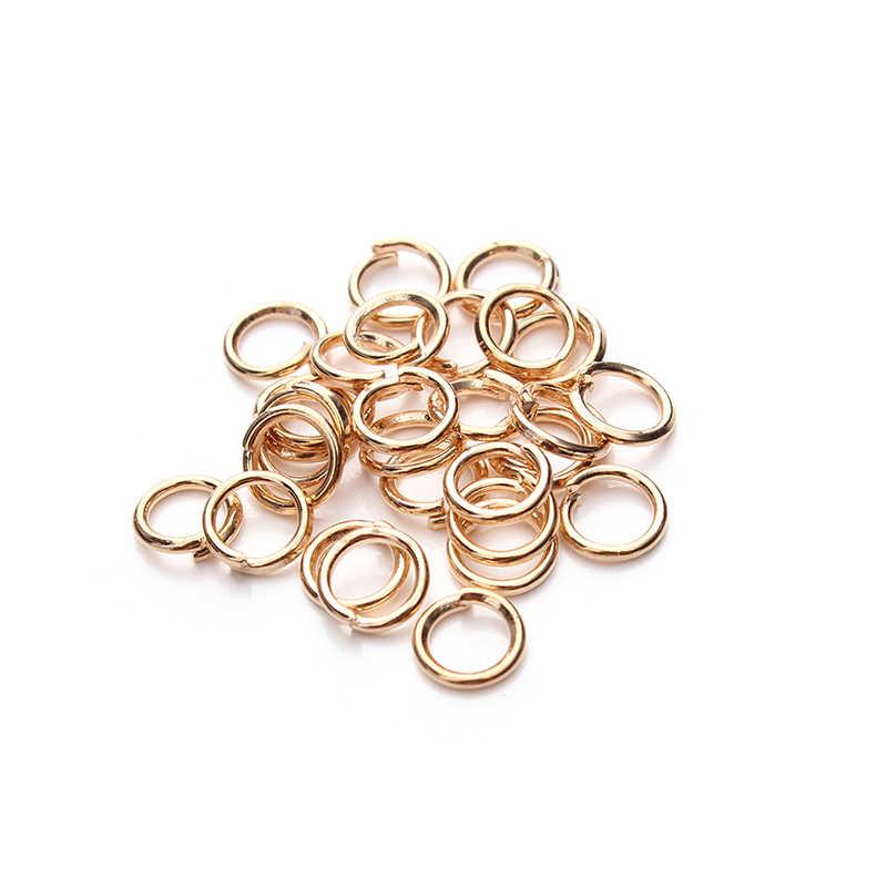 200 sztuk/partia 4 5 6 8 10 12mm Jump Rings DIY tworzenia biżuterii złącze dzielone pierścienie biżuteria akcesoria ustalenia dostaw