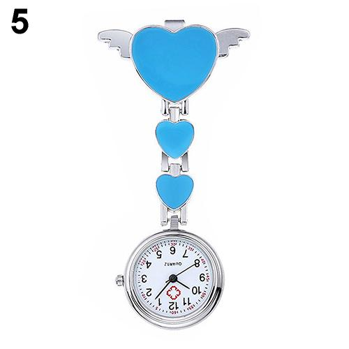 Waterproof Nurse Watch Pocket Pocket Watch Women Lady Cute Love Heart Quartz Clip-on Fob Brooch Nurse Pocket Watch Angel Nurse T