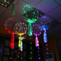 Led Balon 3 M Ciąg Świateł LED copper String 18 Cal Air Balloon Okrągły Bubble Helu Dymki Wesele Użytkowania IY304102-2