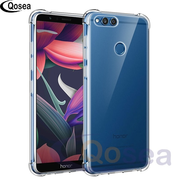 check out 00a89 6d092 US $4.25 |Qosea For Huawei Honor 7X Case Transparent Slim Soft Silicone  Ultra Clear TPU Skin For Huawei Honor 7X Airbag Protective Cover-in Fitted  ...