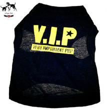 Black Classic VIP Printing Dog Vests Cat Puppy Breathable Sleeveless Shirt Teddy Summer Clothes Comfort Upper Outer Garment