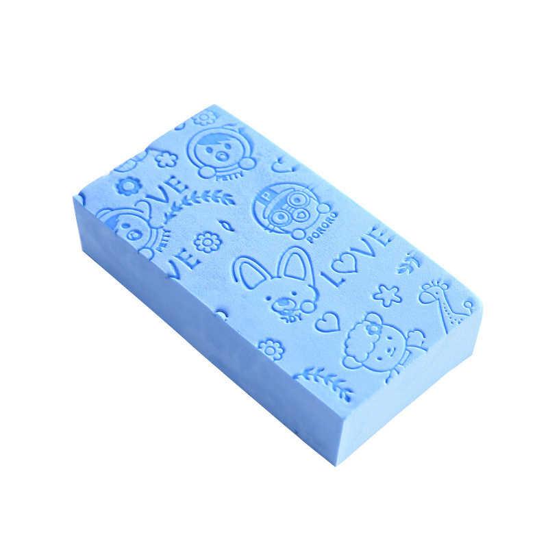 المطبوعة فرك تنظيف الإسفنج الكبار الجسم تنظيف دش الطفل حمام سبا جهاز غسيل إسفنجي الوجه كرة استحمام