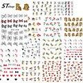 11 проекты в 1 компл. мода переброска воды мультфильм ногтей наклейки надписи украшения татуировки инструменты для инструменты ND221