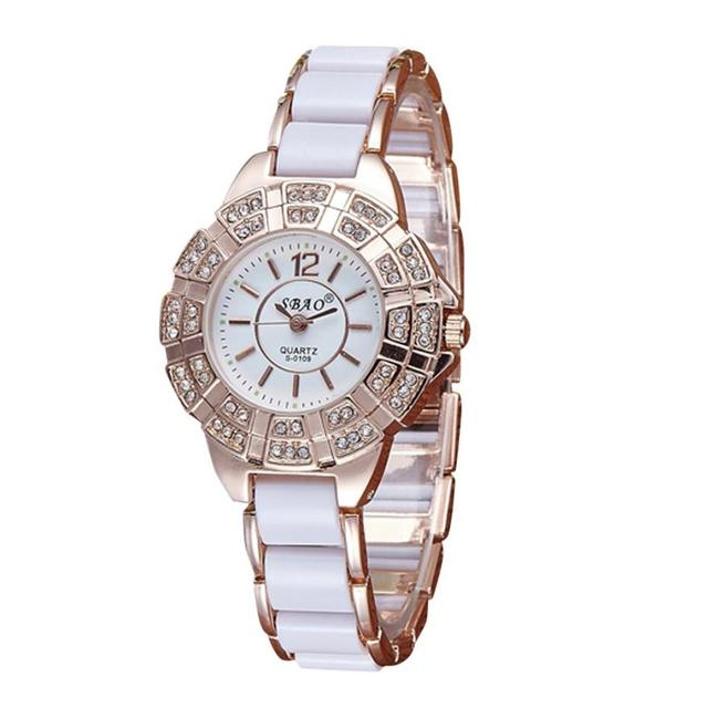 Watch Reloj 2017 Diamond Bracelet Watch Women 's Watches  Clock Gifts relogios feminino Dropship 17AUG4