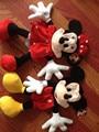 50 см минни и микки плюшевые игрушки кожи, Микки маус игрушки куртки, Плюшевый мишка шубной