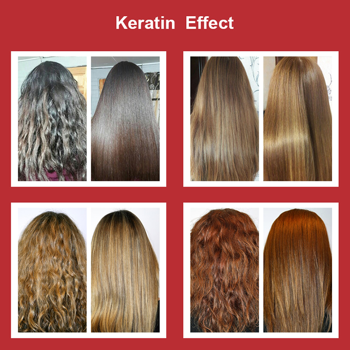 Image 2 - Pure keratin smoothing 8% formlain repair damaged hair and make hair smoothing and shine chocolate smell high quality-in Hair & Scalp Treatments from Beauty & Health