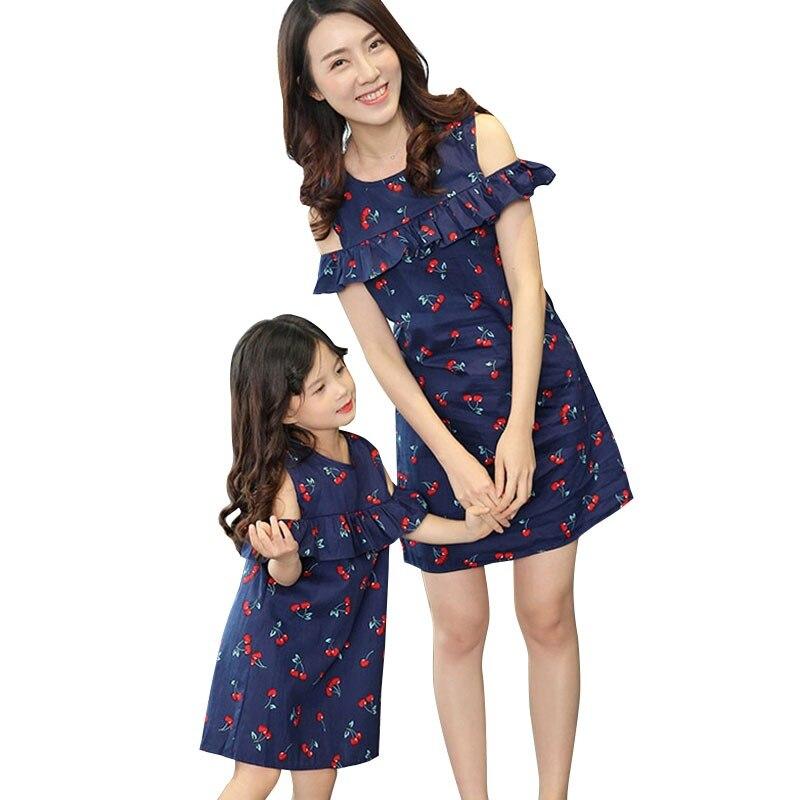 60b4b9b8dc Jednakowe stroje rodzinne moda rodzina zestaw bawełna sukienka matka córka  sukienka mama i córka sukienki rodziny