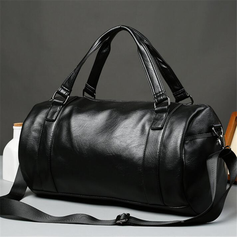 Men Travel Bag Large Capacity Business Bag Luggage High Quality Storage Bags Leisure Genuine Leather Tote Bag Black