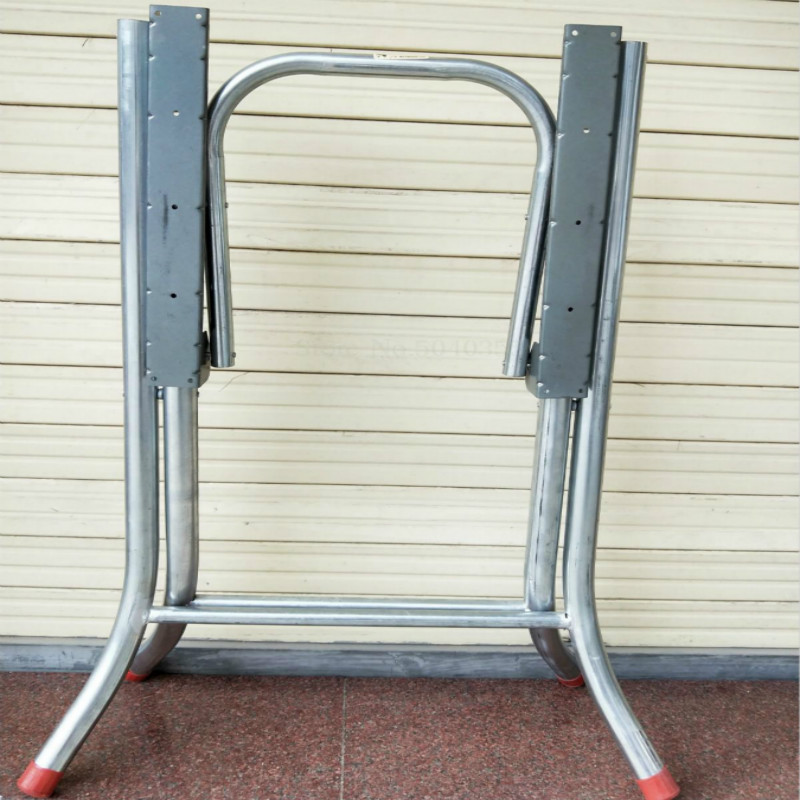 Coffee Table Foot Single-layer Dining Table Round Table Folding Leg Bracket Work Bench Iron Frame Training Shrink Table Foot