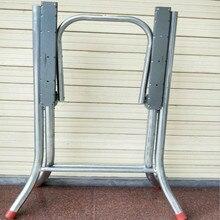 Журнальный столик для ног однослойный обеденный стол круглый стол складной кронштейн для ног Рабочий стол железная рама тренировочный термоусадочный стол для ног