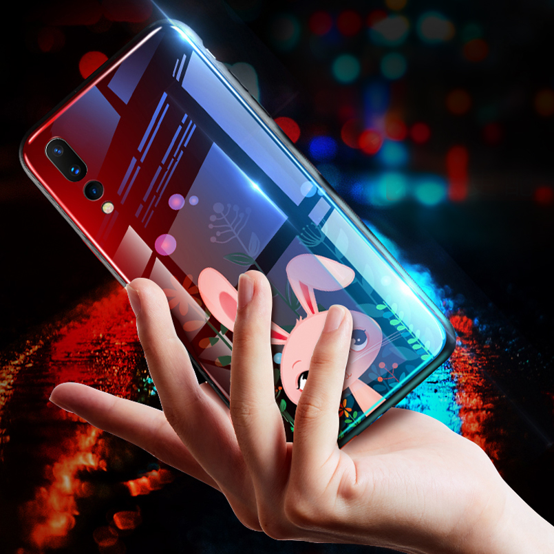 ASINA Luxury Glass Case For Huawei P20 Lite Case Cute With Tempered Glass Back Cover For Huawei P20 Pro Case P20 Bumper Coque