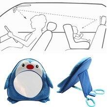 Мультяшный Пингвин, регулируемые аксессуары для безопасности сидений, Автомобильное зеркало заднего вида, подголовник для маленьких детей, Задние Зеркала для наблюдения, монитор