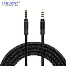 Tendway Jack 3.5mm Audio Cable Nylon Braid 3.5mm Car AUX Cable 1.5M Headphone Extension Code for Phone MP3 Car Headset Speaker(China)