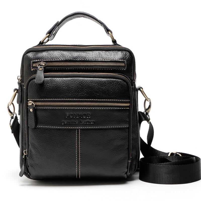 Crossbody Bags For Men Small Daily Casual Genuine Leather Messenger Bag Fashion Brand Men's Shoulder Bag Business Handbag WBS436 цена