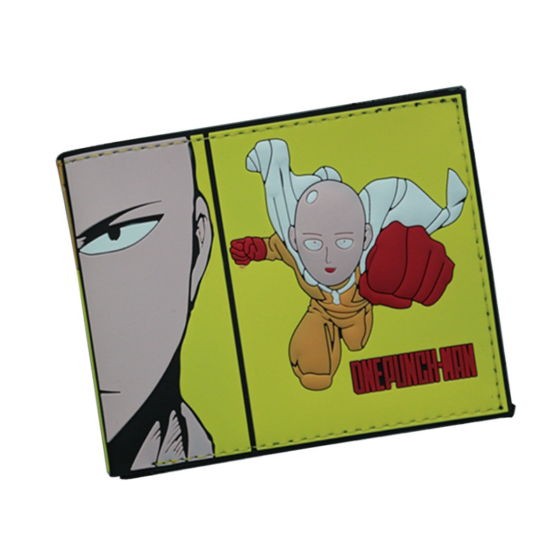 Anime Cartoon One Punch Man Wallets PU Leather Slim Purse Young Boys Girls Student Short Wallet cartoon wallet rashly giant reconnaissance survey marks around pu leather anime dollar bags student gift purse short wallets