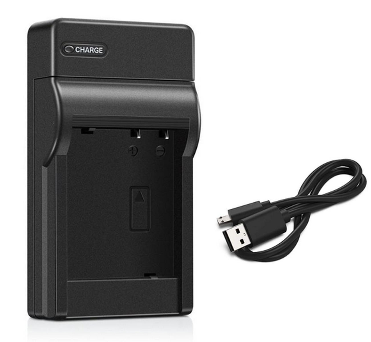 Battery Pack and LCD USB Travel Charger for Samsung VP-D93 VP-D97 VP-D99 Digital Video Camcorder