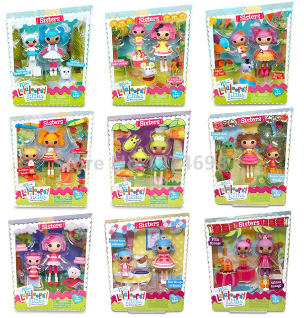 new mini lalaloopsy doll littles sisters series cute figure toy kids dolls for girls children christmas