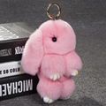 Fur pom pom keychain Rex Rabbit Fur Cute Rabbit Doll Key Chain Pendant Handbag Bag Accessory Charm Pendent Keychains