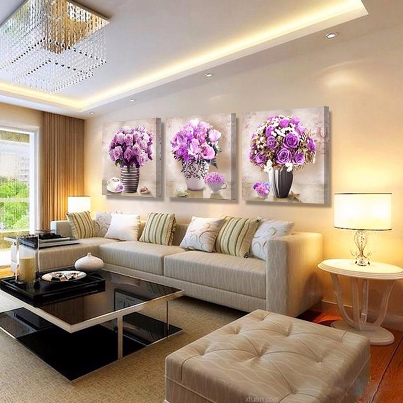 Gemalten Blumen leinwand wandmalereien kunst ölbilder modulare ...