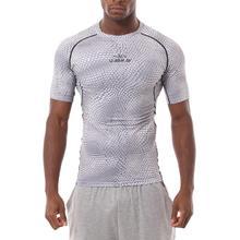 Спортивная футболка для фитнеса Бодибилдинг бег мужские легинсы для бега Спортивная Футболка компрессионная футболка с короткими рукавами быстросохнущие футболки топы