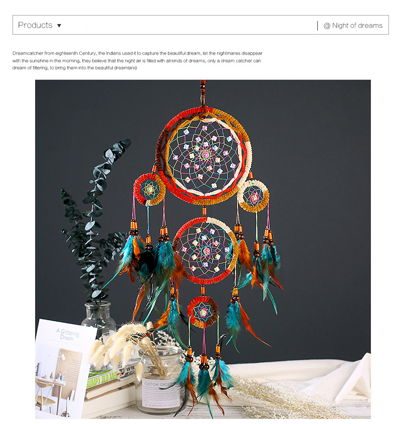 dream catchers hangingdiy kids room decoration nordic decoration home girls roomnurserykids decor dreamcatcher children room (1)