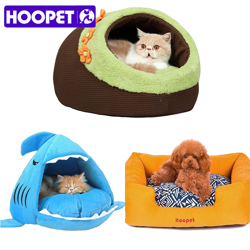 HOOPET Warm Soft Cat House Winter Pet Sleeping Bag Beautiful Shark Dog Kennel Bed Puppy Cushion Sofa