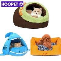 Hoopet暖かいソフト猫ハウス冬ペット寝袋美しいシャーク犬小屋ベッド子犬クッションソフ