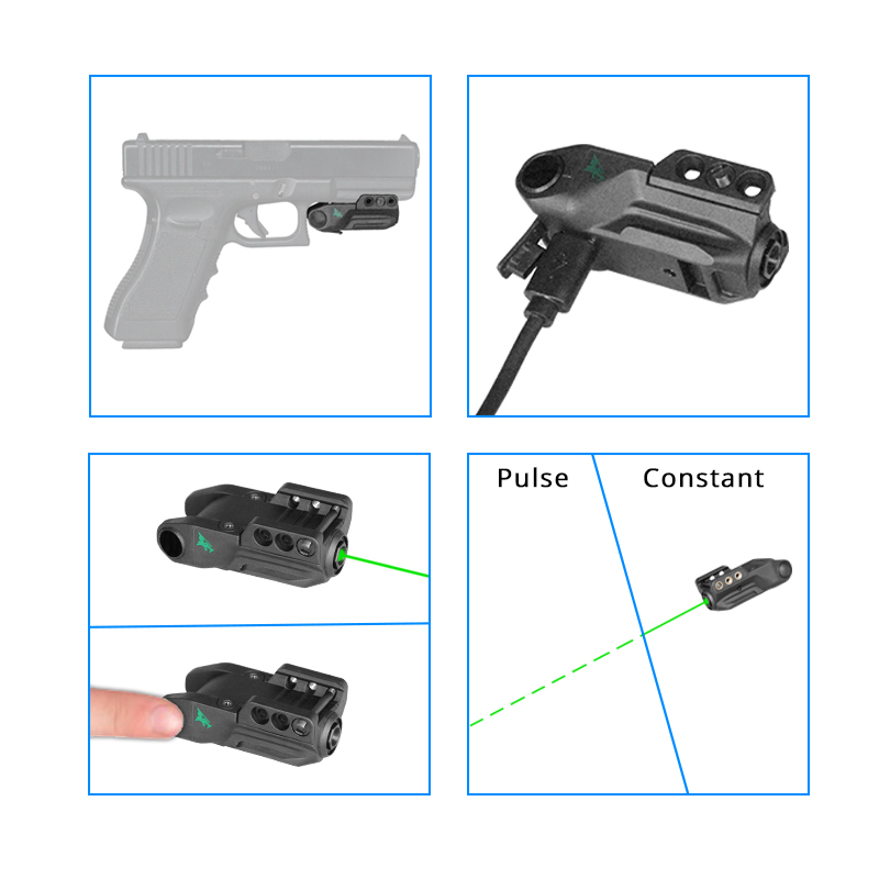 Laserspeed Smart Sensor Control Pistol Laser Sight LS-L9-GT Military Police Tactical Green Glock Laser-2