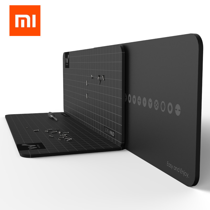 Xiaomi Mijia Wowstick Wowpad Magnetic Screwpad Screw Postion Memory Plate Mat For 1FS 1P+ 1F+ Plus Wowcase Nozle Kits Optional