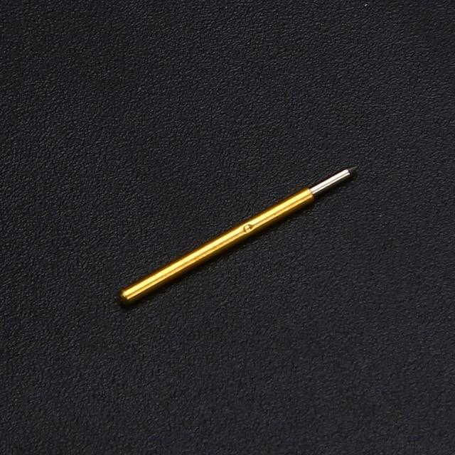 50 Uds P75-B1 100g cúspide lanza resorte de sondas de prueba Pines de POGO longitud 16,54mm diámetro 1,02mm para herramienta de prueba