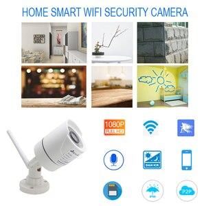Image 4 - JIENUO 1080P kamera wifi cctv ip bezprzewodowy bezpieczeństwa na zewnątrz wodoodporny 2.0mp HD nadzoru Audio IPCam podczerwieni gniazdo karty tf