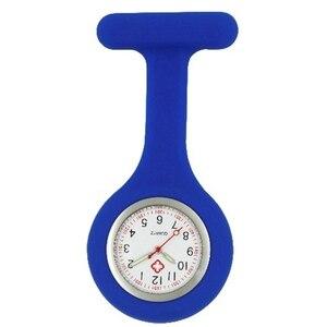 Image 3 - Infirmière en silicone lumineux montres femmes dames médecin FOB montres de poche en gros médecin médical hôpital quartz accrocher montres