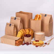 10pcs Kraft Paper Bags Food Tea Small Gift Bags Sandwich Bread Bags Pa