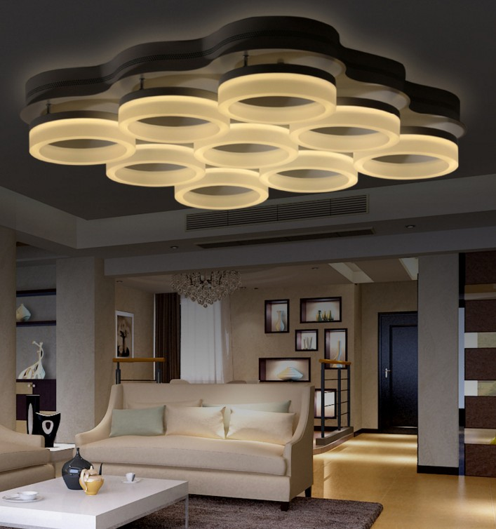 Modern led lamp surface mounted modern led ceiling lights for living room light fixture indoor lighting decorative lampshade