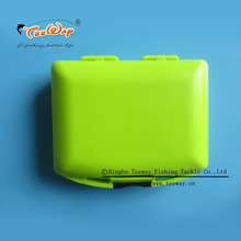 Marine rock fishing tackle boxes containing the fishhooks and fishing float road lure ring and other accessories