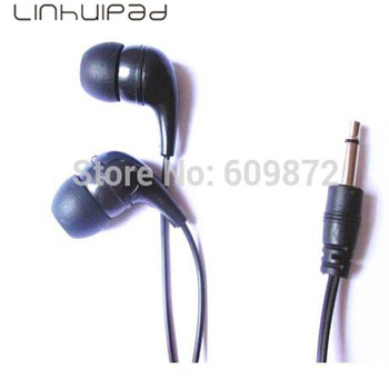 Linhuipad SL-004 Economical black Stereo Earphones For Schools Gyms hotels motor coaches 500 pcs/lot Individually Sealed Packing