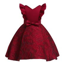 Baby girl evening dress pattern sleeveless solid color campus wind Festival wedding master  New summer