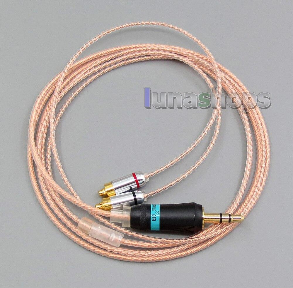 3.5mm écouteur argent 7N OCC câble pour DUNU DN-2002 2BA T5 2 hybride dynamique LN005594
