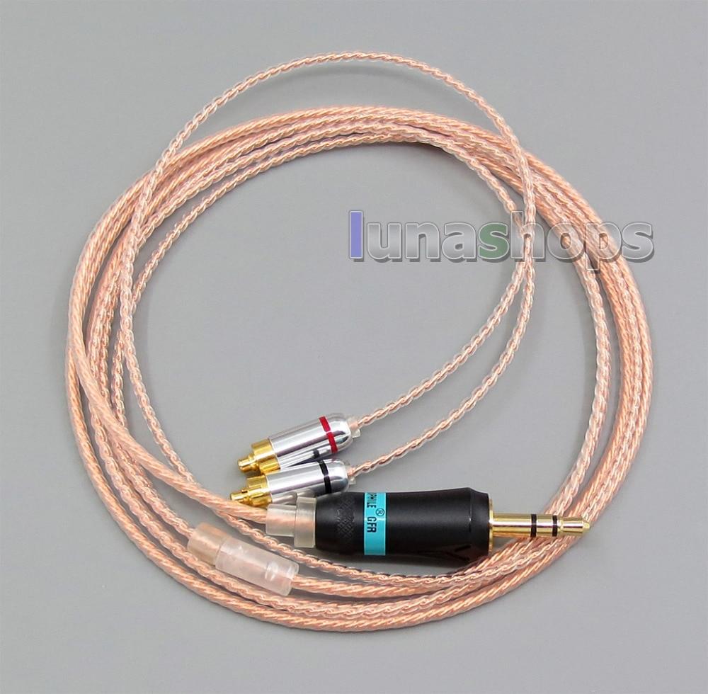 3.5mm Oortelefoon Zilver 7N OCC Kabel Voor DUNU DN 2002 2BA T5 2 Dynamische Hybrid LN005594-in Oortelefoonaccessoires van Consumentenelektronica op  Groep 1
