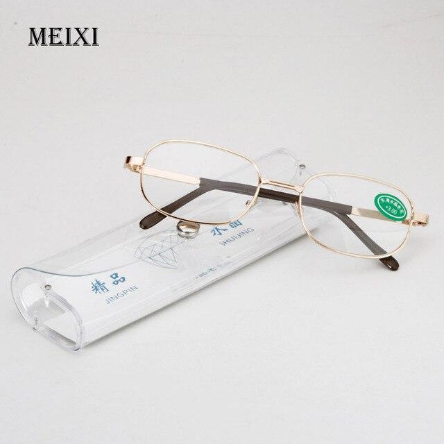 Marco de metal completo, cristales de cristal, gafas de lectura masculinas para mujer, gafas Unisex para hombre + 1,0 1,5 2 2,5 3 3,5 4 4,5 5 5,5 6