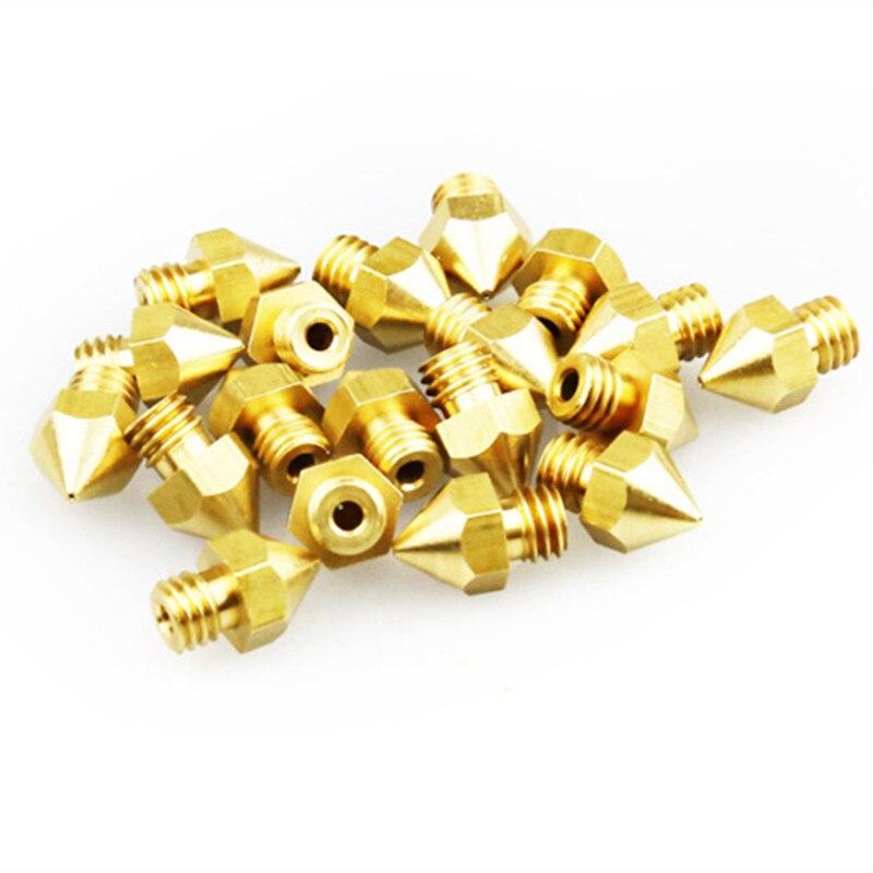 Creality 3D Düsen 10 stücke 0,4mm Hotend Extruder Düse Für 3D Drucker Teile Für Creality CR-10/10 s ender-3 3D Drucker