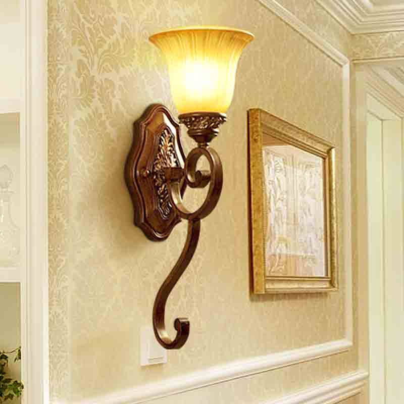 European style wall lamp mirror wall lights bedside lamp lighting lamp room pastoral village single head Wall Lamps zzp